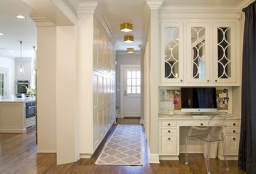 Modern Hallway lighting flush mount brass finish
