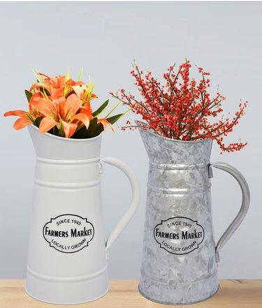 flower pitchers