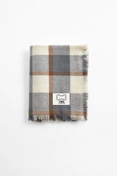 plaid dog blanket