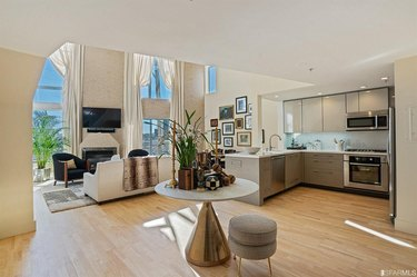 kamala harris san francisco apartment kitchen and dining area