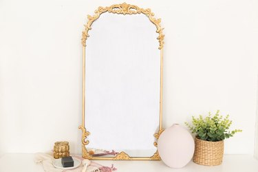 DIY Anthropologie-Inspired Mirror in gold