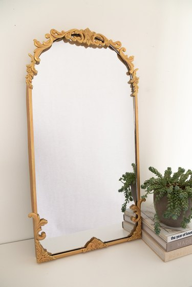 DIY Anthro Inspired Gold Mirror