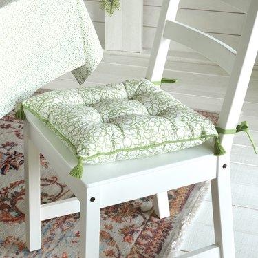 ikea Inbjuden chair pad on white chair