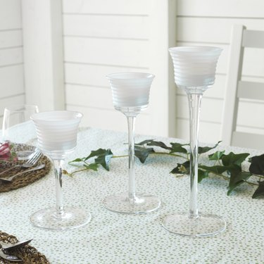 ikea inbjuden Set of 3 Tealight Holders on tablecloth