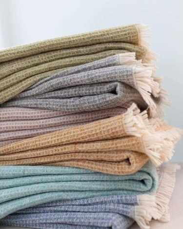 photo of blankets and throws by stella tribeca