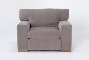 chair in taupe color