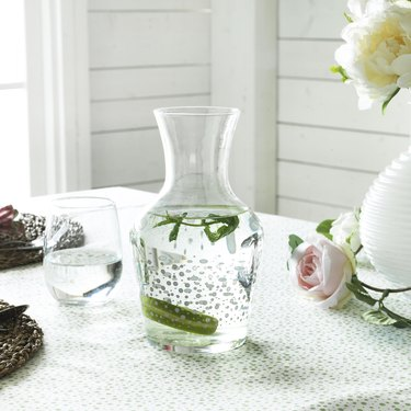 ikea inbjuden Carafe filled with mint water on table
