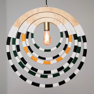 hanging light with patterned design
