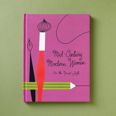 pink cover of mid-century women in the visual arts book