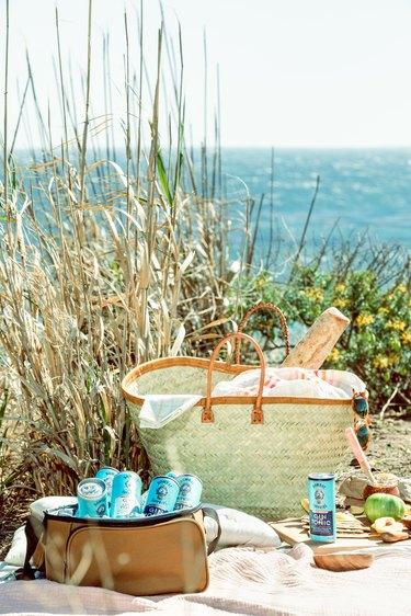 picnic scene on the beach