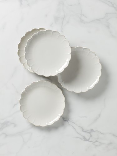Lenox French Perle Scallop 4-Piece Accent Plate Set