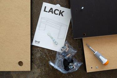 Ikea Hack grasscloth console table materials