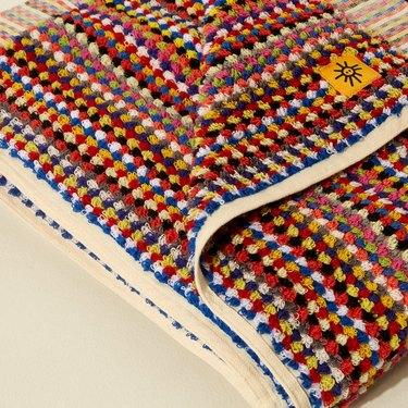 multicolor towel