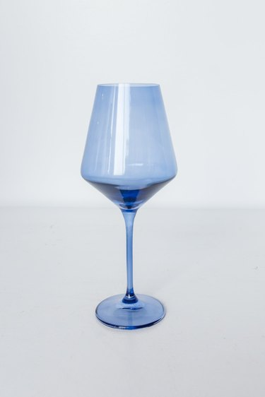 Cobalt blue colored stemware