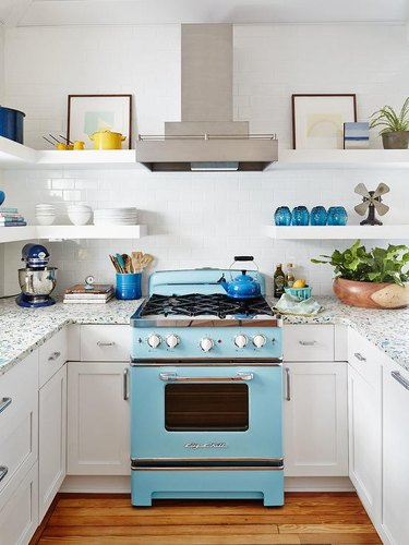 turquoise range and blue accents