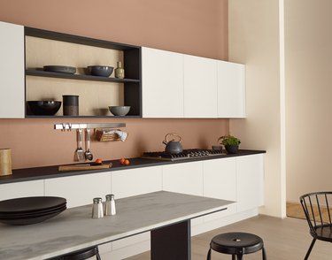 kitchen with canyon dusk walls