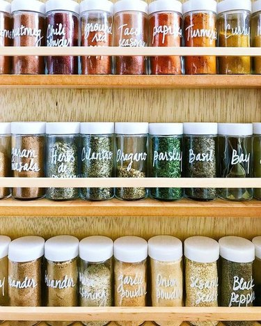 How to Organize a Pantry with Spice rack