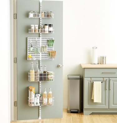 How to Organize a Pantry with Shelf unit on door