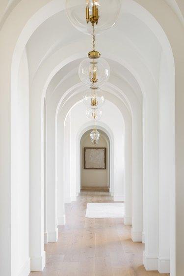 minimalist hallway pendant lighting