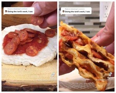 mini waffle pizza tiktok recipe