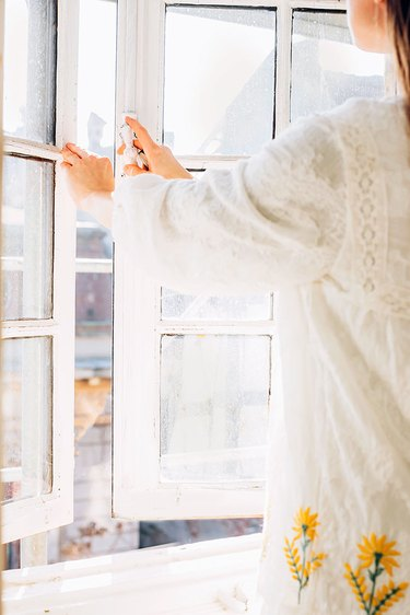 Open windows to remove negative energy at home