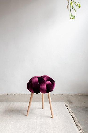 purple knot stool