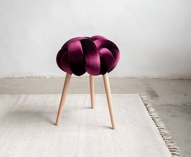 purple knot stool