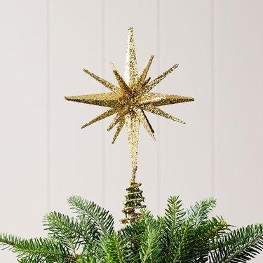 Kraft & Glitter Gem Starburst Tree Topper
