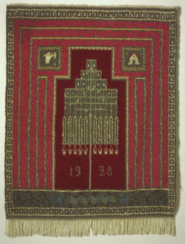 Patterned rug from the 1920s.