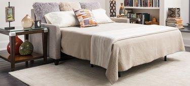 sleeper sofa with queen size gel mattress