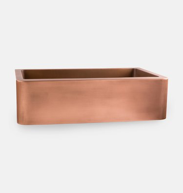 copper undermount sink