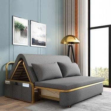 glam sleeper sofa