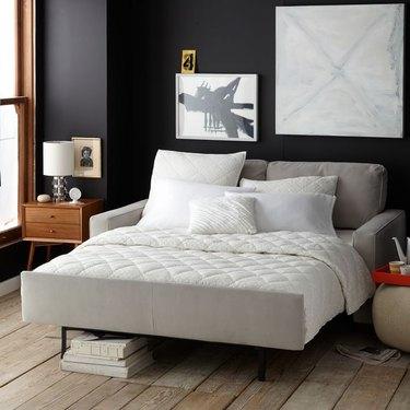 sleeper  sofa with foot board