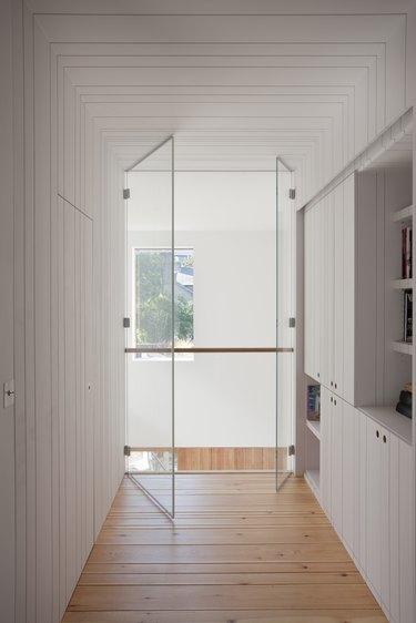 minimalist hallway symmetry