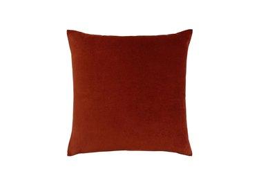 World Market Cognac Brown Velvet Throw Pillow