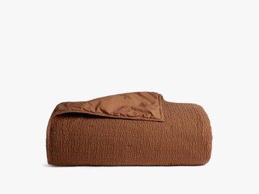 terracotta textured quilt