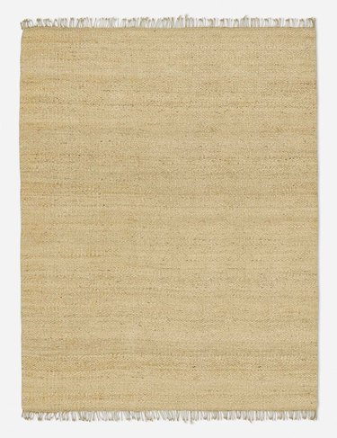 sand-colored rug