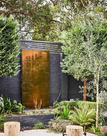 contemporary landscape with water feature