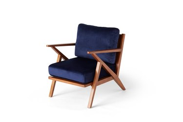 mid-century blue chair