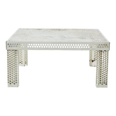 Chairish Perforated Metal Coffee Table