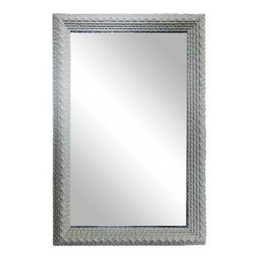 Chairish tramp art mirror