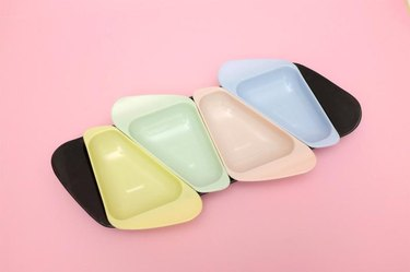 storage tray in pastel colors