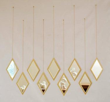 Woodland Gold Rhombus Mirrors