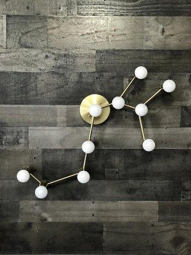 zodiac-shaped wall light