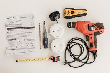 Here's what you'll need to run your television cables through the wall.