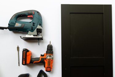 Tools for and IKEA cabinet hack