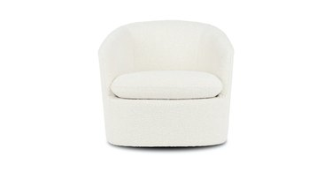 ivory boucle chair