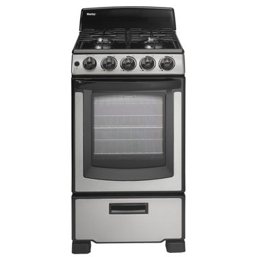 Danby Gas small stove with Manual Clean Oven in Stainless Steel from Home Depot