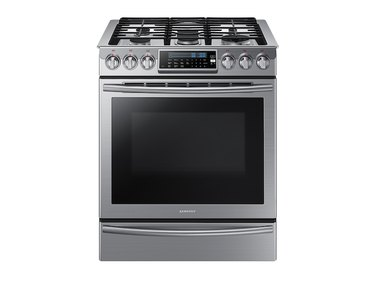 best gas stove Samsung 5.8 cu. ft. Slide-In Gas Range with True Convection in Stainless Steel