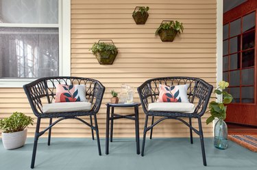 porch with beige siding